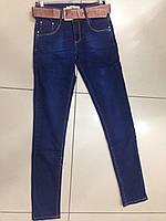 Женские джинсы утепленные на флисе с высокой посадкой