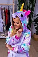 Детская пижама кигуруми единорог  130 см, 140 см
