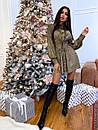 Платье - рубашка из люрекса с расклешенной юбкой и вырезом на спине (р. S, М) 66plt1988Е, фото 3