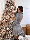 Платье - рубашка из люрекса с расклешенной юбкой и вырезом на спине (р. S, М) 66plt1988Е, фото 5