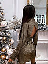 Платье - рубашка из люрекса с расклешенной юбкой и вырезом на спине (р. S, М) 66plt1988Е, фото 6