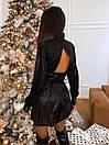 Платье - рубашка из люрекса с расклешенной юбкой и вырезом на спине (р. S, М) 66plt1988Е, фото 8