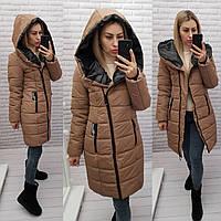 Куртка зима НОВИНКА 2021, модель  414, цвет КОФЕ, фото 1