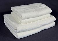 Полотенце махровое бело-молочное (70х140 см) для ежедневного использования, фото 1