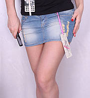 Женская короткая джинсовая юбка - новинка.