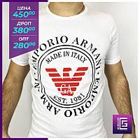 Мужская футболка EMPORIO ARMANI белая.Чоловіча футболка EMPORIO ARMANI біла.