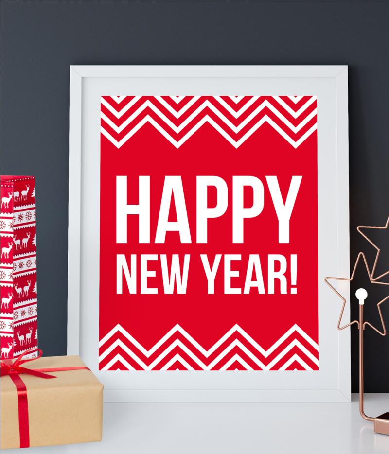 """Новогодний постер """"Happy New Year!"""" (2 размера)"""