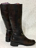 Высокие кожаные сапоги 41 -42 размер, фото 4
