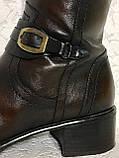 Высокие кожаные сапоги 41 -42 размер, фото 10