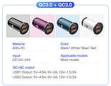 Автомобильное зарядное устройство адаптер KUULAA KL-CC 2 USB 3A QC 3.0 48Вт Цвет Чёрный, фото 2