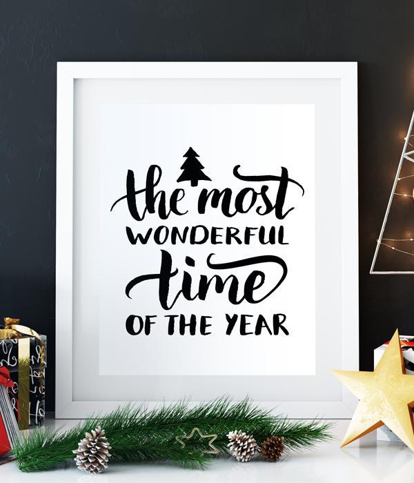 Стильный новогодний постер (2 размера)