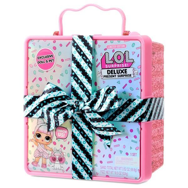 Набор сюрприз подарок LOL Deluxe Present Surprise с эксклюзивной куклой и питомцем розовый Оригинал MGA