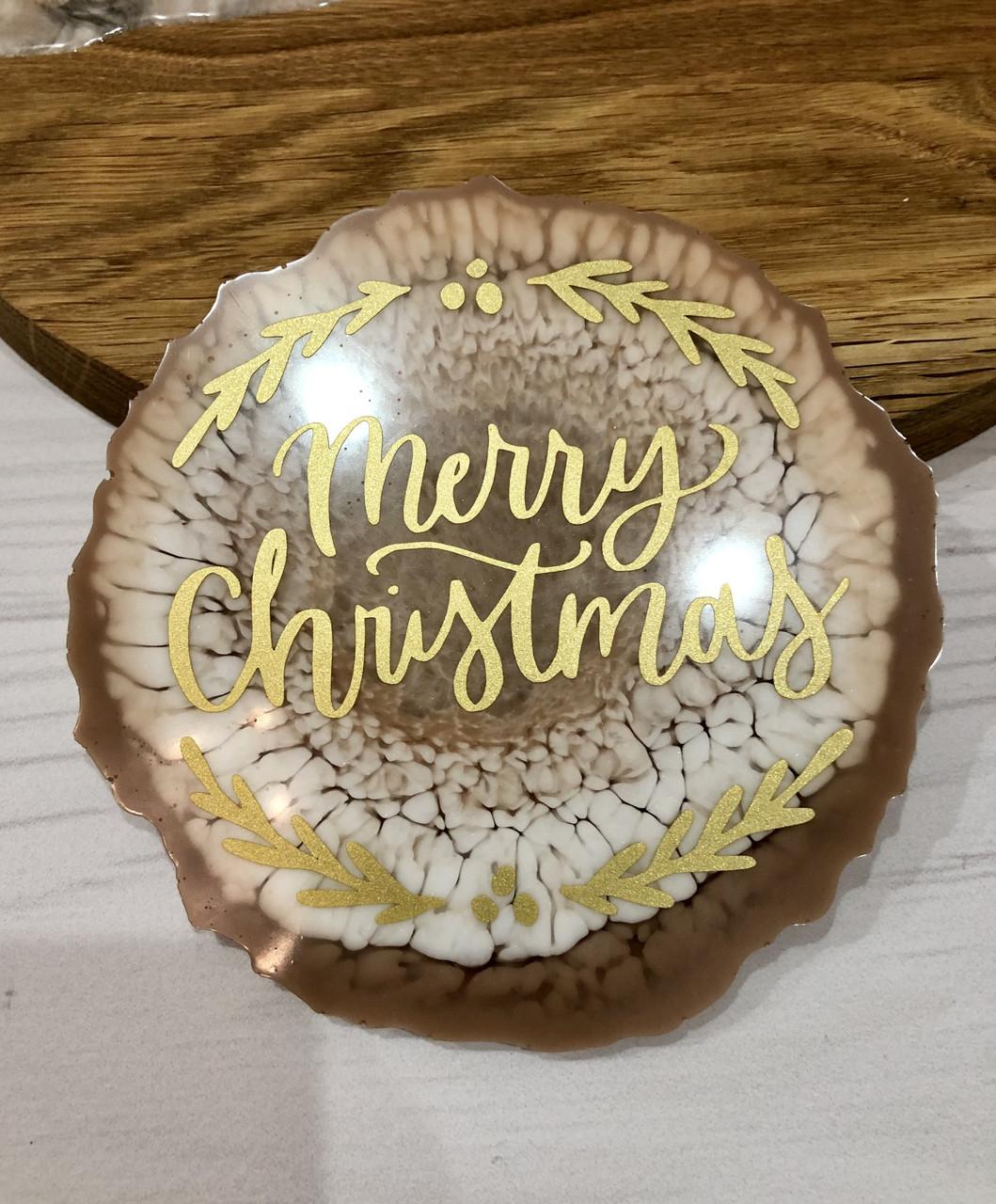 Подстаканник круглый merry Christmas