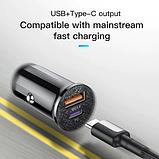 Автомобильное зарядное устройство адаптер KUULAA KL-CD09-P USB/type-C 3A QC 3.0 PD 4.0 42Вт Цвет Чёрный, фото 2