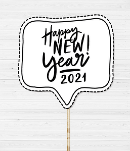 "Табличка для фотосессии ""Happy New Year 2021!"""