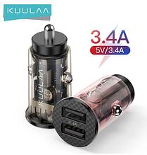 Автомобильное зарядное устройство KUULAA модель KL-CD09-J 2 USB 3A QC 3.0 17Вт Прозрачная