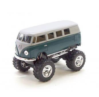 """Машинка KINSMART """"Volkswagen T2 BUS Off-Road"""" (зеленая) KT5060WB"""