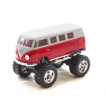 "Машинка KINSMART ""Volkswagen T2 BUS Off-Road"" (красная) KT5060WB"