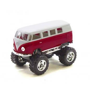 "Машинка KINSMART ""Volkswagen T2 BUS Off-Road"" (бордовая) KT5060WB"