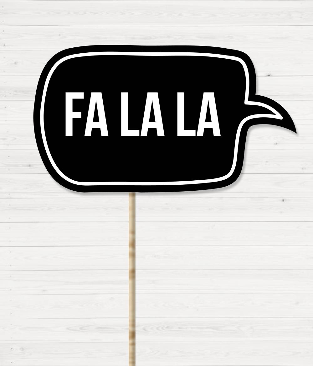"""Табличка для новогодней фотосессии """"FA LA LA"""""""