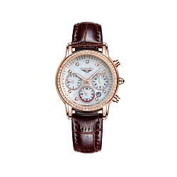 Часы GUANQIN GQ15001 CL Gold-White-Brown GQ15001GWBr, КОД: 1381839