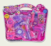 Парикмахерский набор игрушечный 8915F расческа,фен,плойка,зеркало,заколки,телефон...в слюде 43*36см