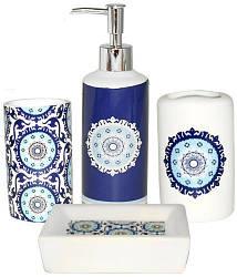 Набор аксессуаров Восток для ванной комнаты 4 предмета керамика psgST-888-06-012, КОД: 2371051