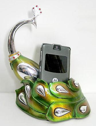 Подставка под мобильный телефон Павлин 16.5см BonaDi 219-P50