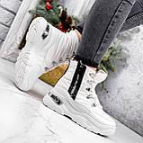 Ботинки женские Barta белые ЗИМА 2763, фото 4