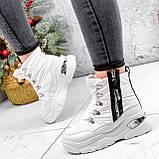 Ботинки женские Barta белые ЗИМА 2763, фото 5