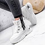 Ботинки женские Barta белые ЗИМА 2763, фото 8