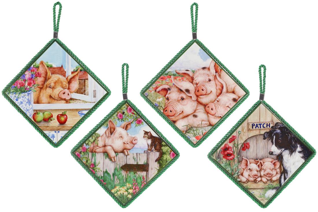Підставка під гаряче квадратна 16см Чарівні Свинки BonaDi 858-554
