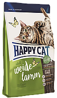 Корм сухой для взрослых котов Happy Cat 4 кг Supreme Adult Weide Lamm Хеппи Кет Адалт с ягненком, КОД: 2400035