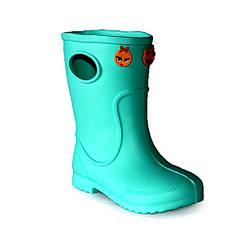 Резиновые сапоги детские для девочки EVA Jose Amorales с украшениями 28 р Бирюзовый joa1171624, КОД: 2374113