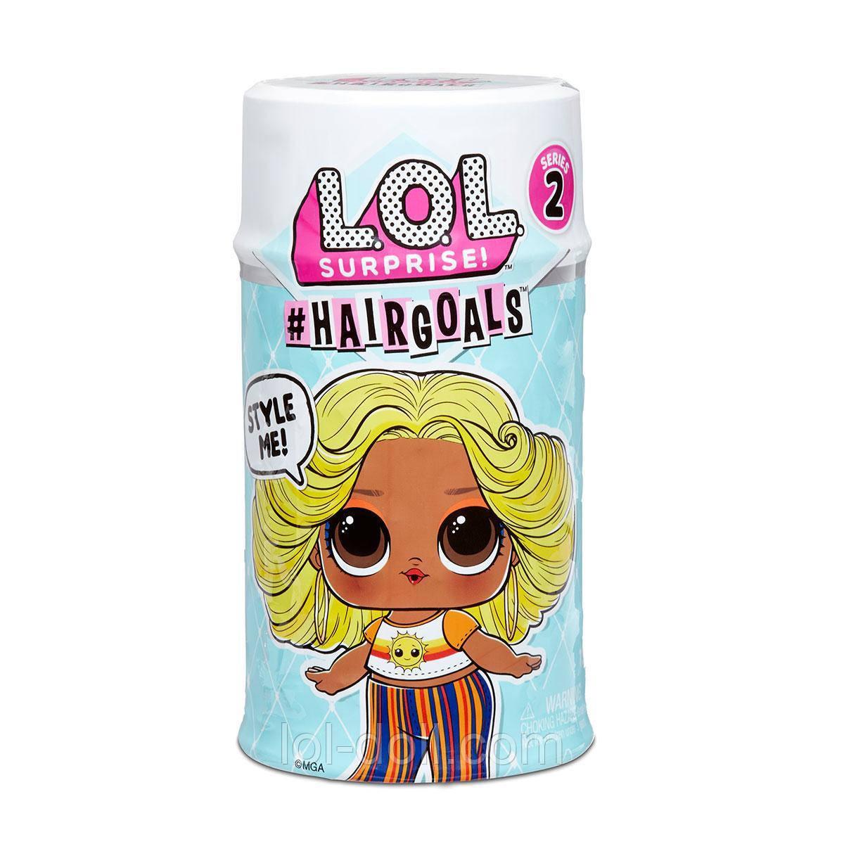 Кукла ЛОЛ Капсула Хеиргоалс Модный стиль Оригинал L.O.L. Surprise! Hairgoals 2