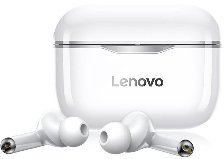 Беспроводные Bluetooth наушники Lenovo LivePods LP1 | IPX4 | Серый