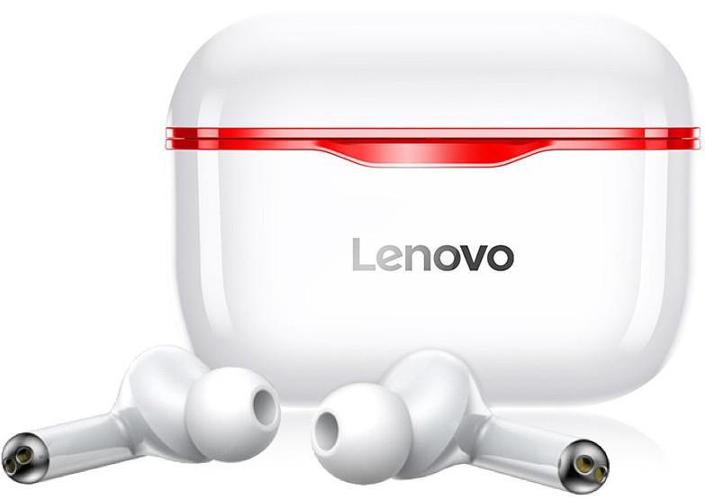 Беспроводные Bluetooth наушники Lenovo LivePods LP1 | IPX4 | Красный