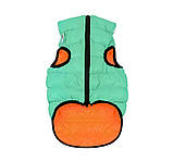 Курточка  Airy Vest Lumi  (ЕйриВест Люми)  для собак двухсторонняя салатово-оранжевая, XS 22, фото 3