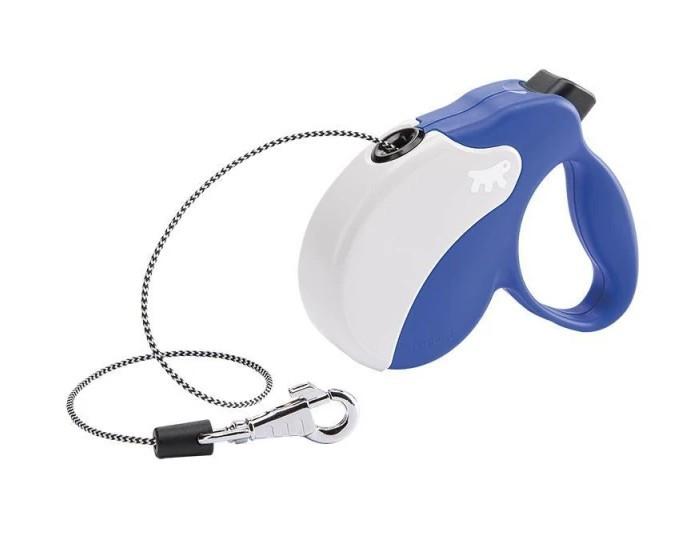 Поводок-рулетка Ferplast Amigo Mini Cord Blue-White Lead для собак,, М (5 м, до 25 кг)