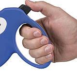 Поводок-рулетка Ferplast Amigo Mini Cord Blue-White Lead для собак,, М (5 м, до 25 кг), фото 2