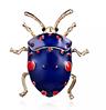 Брошь брошка значок металлический синий жук насекомое, фото 4