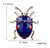 Брошь брошка значок металлический синий жук насекомое, фото 7