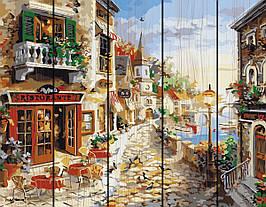Картина по номерам на дереве Приморский бульвар 40*50 см. Rainbow Art