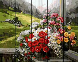Картина по номерам на дереве Горный букет 40*50 см. Rainbow Art