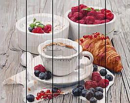 Картина по номерам на дереве Ароматный завтрак 40*50 см. Rainbow Art