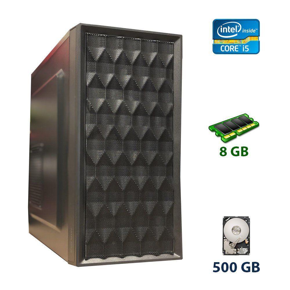 1st Player Led 3fan Tower / Intel Core i5-2500 (4 ядра по 3.3 - 3.7 GHz) / 8 GB DDR3 / 500 GB HDD / nVidia