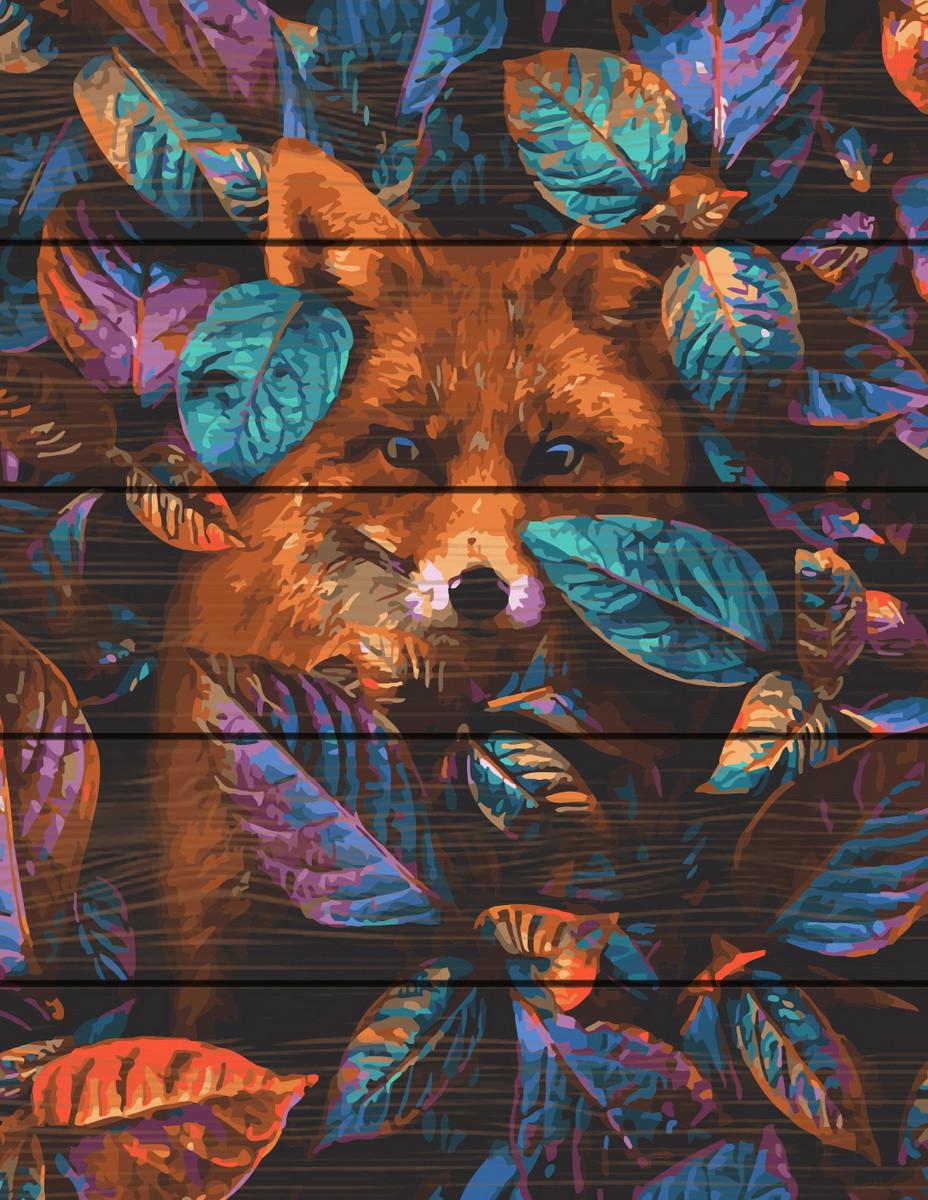 Картина за номерами на дереві Лиса 40*50 см. Rainbow Art