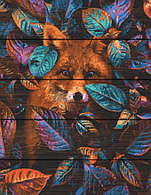 Картина по номерам на дереве Лиса 40*50 см. Rainbow Art