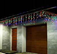 Светодиодная уличная новогодняя гирлянда бахрома 10м 30см *50см (200ламп) led мулитик, фото 1