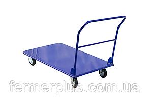 Платформенная складская тележка Скиф Standart 750/500/125мм/250кг